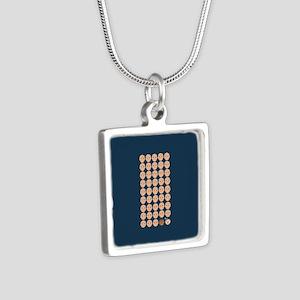 Emoji 45th President Silver Square Necklace