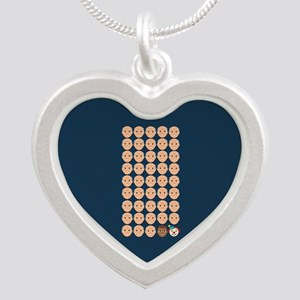 Emoji 45th President Silver Heart Necklace