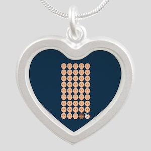 Emoji 45th President Silver Heart Necklace