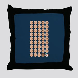 Emoji 45th President Throw Pillow
