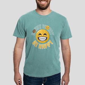 Emoji Donut Worry Be Hap Mens Comfort Colors Shirt