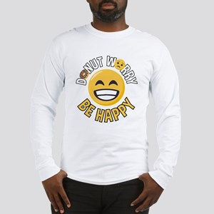 Emoji Donut Worry Be Happy Long Sleeve T-Shirt