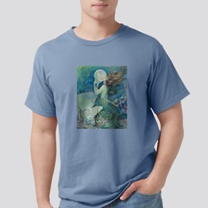 Art Deco Art Nouveau Mermaid With Pearl Pin Up T-S