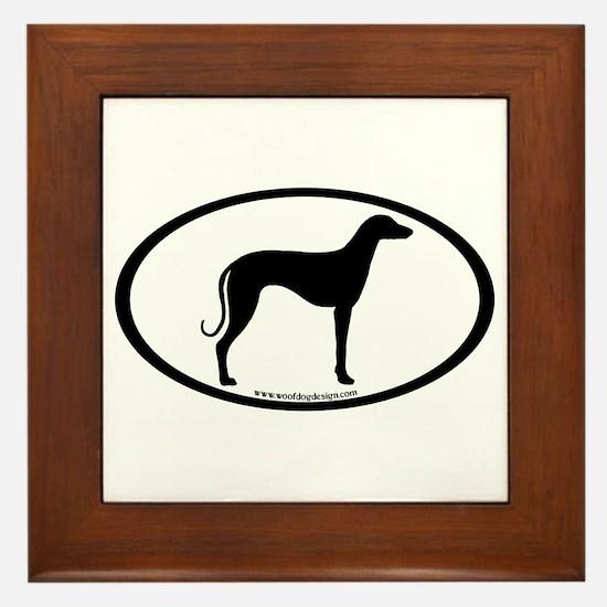 Sloughi Dog Oval Framed Tile