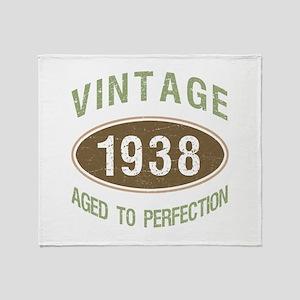 1938 Vintage Throw Blanket