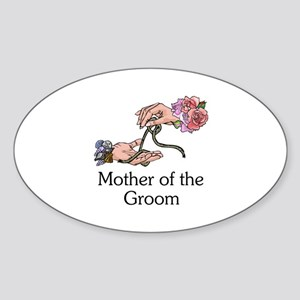 Handfasting Mother of the Groom Oval Sticker