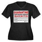 Quarantine, Buickitis Women's Plus Size V-Neck Dar