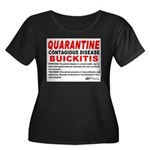 Quarantine, Buickitis Women's Plus Size Scoop Neck