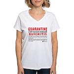 Quarantine, Buickitis Women's V-Neck T-Shirt