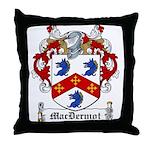 MacDermot Family Crest Throw Pillow