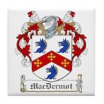 MacDermot Family Crest Tile Coaster