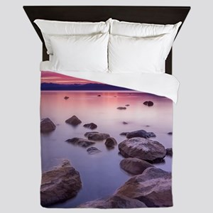 Sunset on Lake Tahoe Queen Duvet