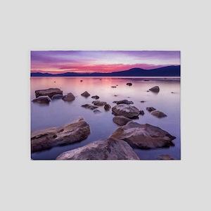 Sunset on Lake Tahoe 5'x7'Area Rug