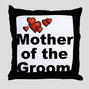 Hearts Mother of the Groom Throw Pillow