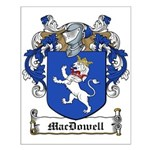 MacDowell Family Crest Small Poster