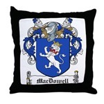 MacDowell Family Crest Throw Pillow
