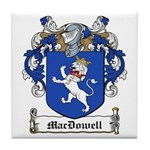 MacDowell Family Crest Tile Coaster