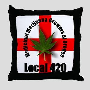 Local 420 Throw Pillow
