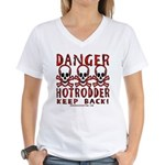 KEEP BACK! Women's V-Neck T-Shirt