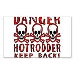 KEEP BACK! Rectangle Sticker