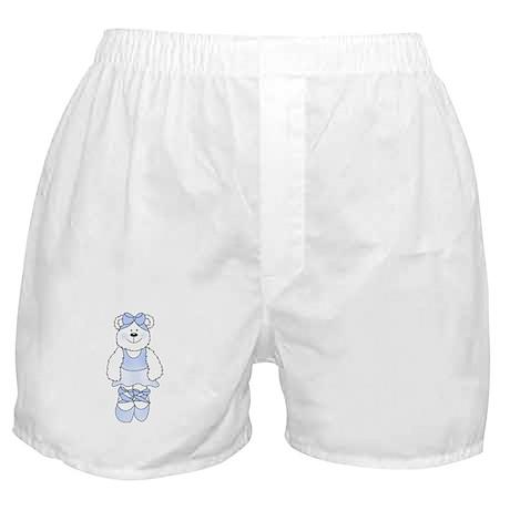 BLUE BALLERINA BEAR Boxer Shorts