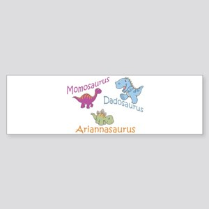 Mom, Dad & Ariannaosaurus Bumper Sticker