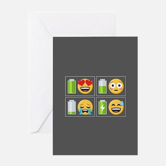 Emoji Phone Battery Greeting Card