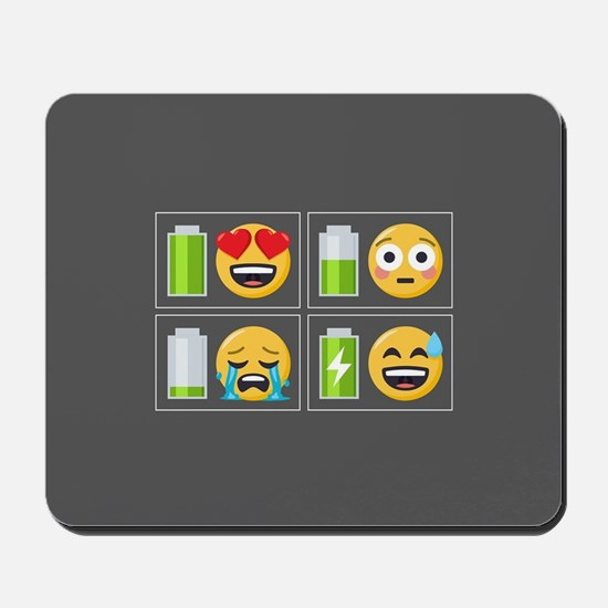 Emoji Phone Battery Mousepad