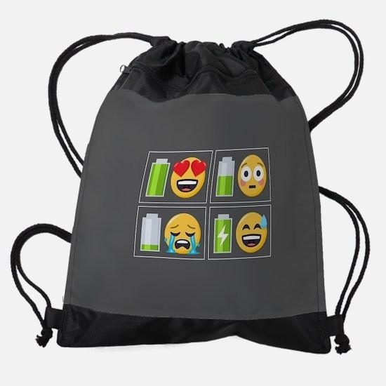Emoji Phone Battery Drawstring Bag