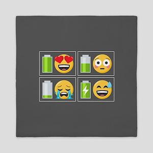 Emoji Phone Battery Queen Duvet