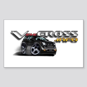 VX.info Rectangle Sticker / Ebony Black