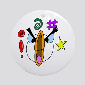 Honking Mad Angry Goose Ornament (Round)