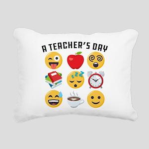 Emoji A Teacher's Day Rectangular Canvas Pillow
