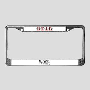 *B*E*A*R* License Plate Frame