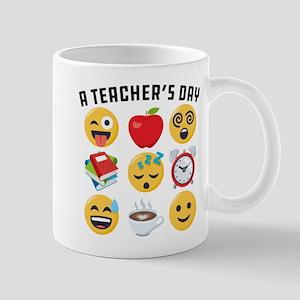 Emoji A Teacher's Day 11 oz Ceramic Mug