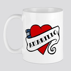 Amarillo tattoo heart Mug