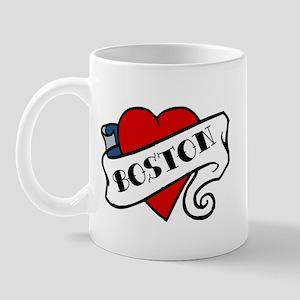 Boston tattoo heart Mug