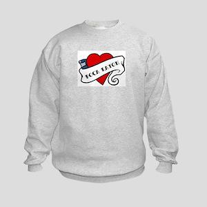 Boca Raton tattoo heart Kids Sweatshirt