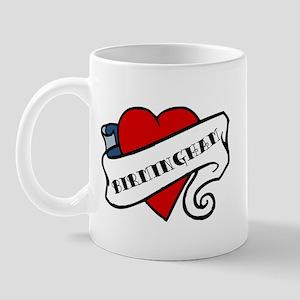 Birmingham tattoo heart Mug