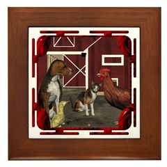 The Little Red Hen Framed Tile
