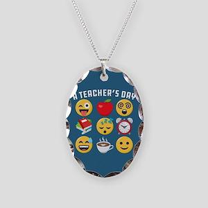 Emoji A Teacher's Day Necklace Oval Charm
