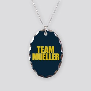 Team Mueller Necklace Oval Charm