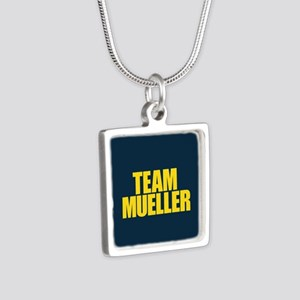 Team Mueller Silver Square Necklace