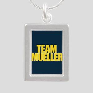 Team Mueller Silver Portrait Necklace
