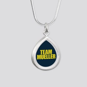 Team Mueller Silver Teardrop Necklace