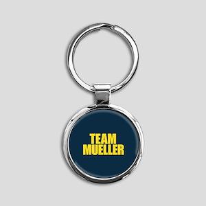 Team Mueller Round Keychain