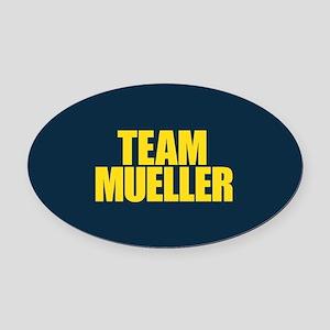 Team Mueller Oval Car Magnet