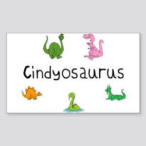 Cindyosaurus Rectangle Sticker