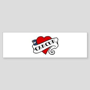 Cancun tattoo heart Bumper Sticker