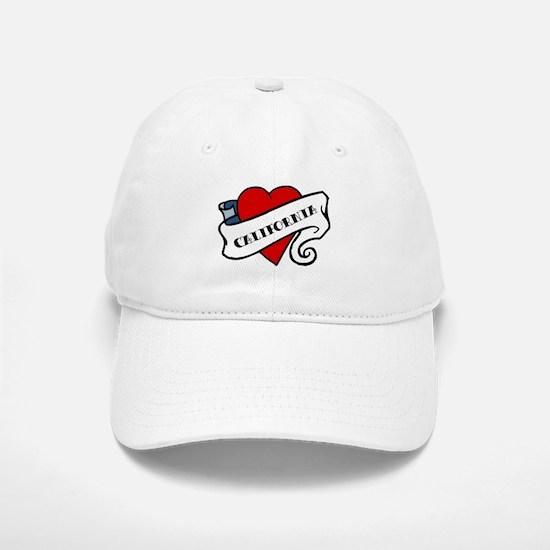 California tattoo heart Baseball Baseball Cap